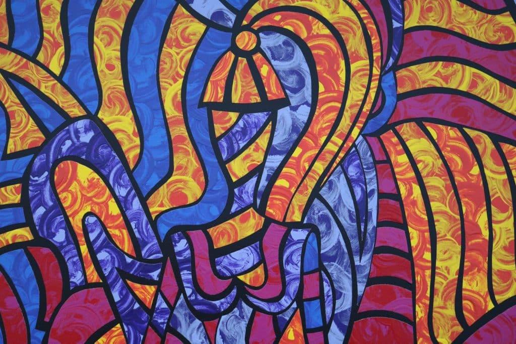 peinture multi couleur